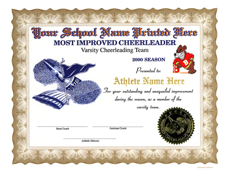 Full color cheerleading certificates yelopaper Image collections