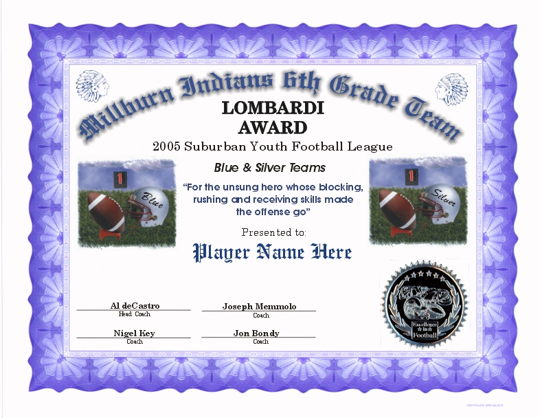 football certificates