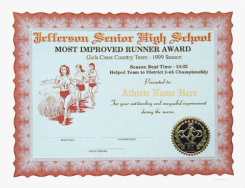 Full color certificates girls cc style a certificate no mascot single color graphic price as shown 175 yelopaper Image collections