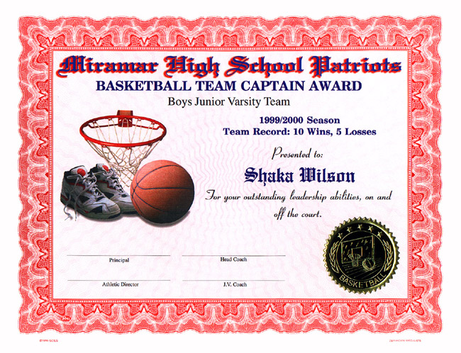 High School Certificates