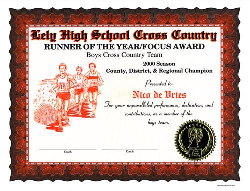cross country certificate orange borderjpg 105641 bytes