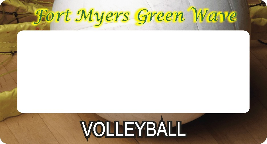 Volleyball Full Color Personalized Items